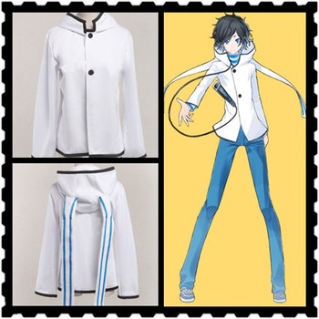 DEVIL SURVIVOR 2 Kuze Hibiki White Rabbit Verzia Bunda s Kapucňou, Anime Cosplay Kostým